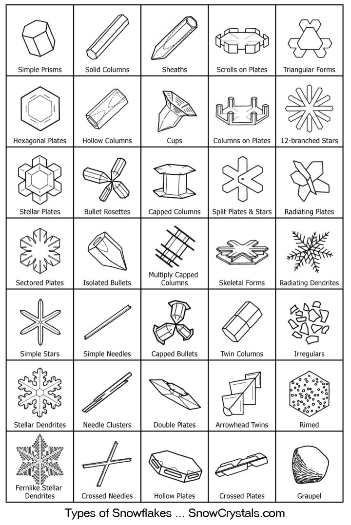 Different Types of Snow Crystals